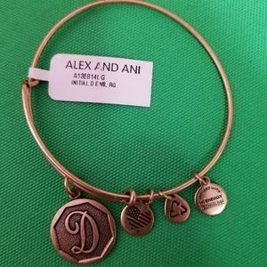 NWT Alex and Ani charm bracelet with initial D